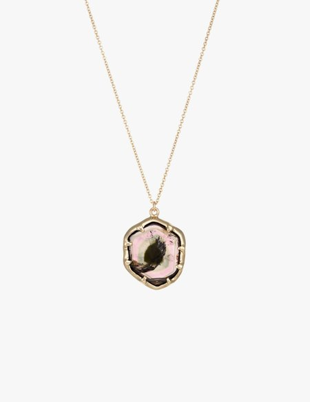 Kathryn Bentley Watermelon Tourmaline Amulet Pendant