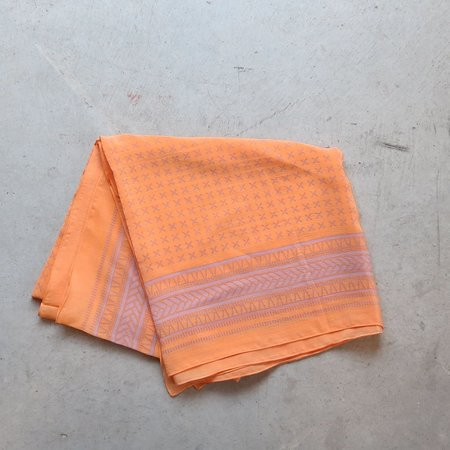 A Peace Treaty Kaveh Silk Scarf in Tangerine