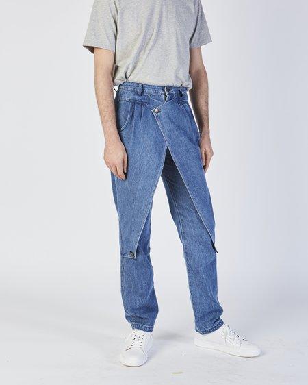 Unisex 69 Front Flap Jeans In Denim