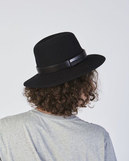 Brookes Boswell Jackson Wool Hat In Black