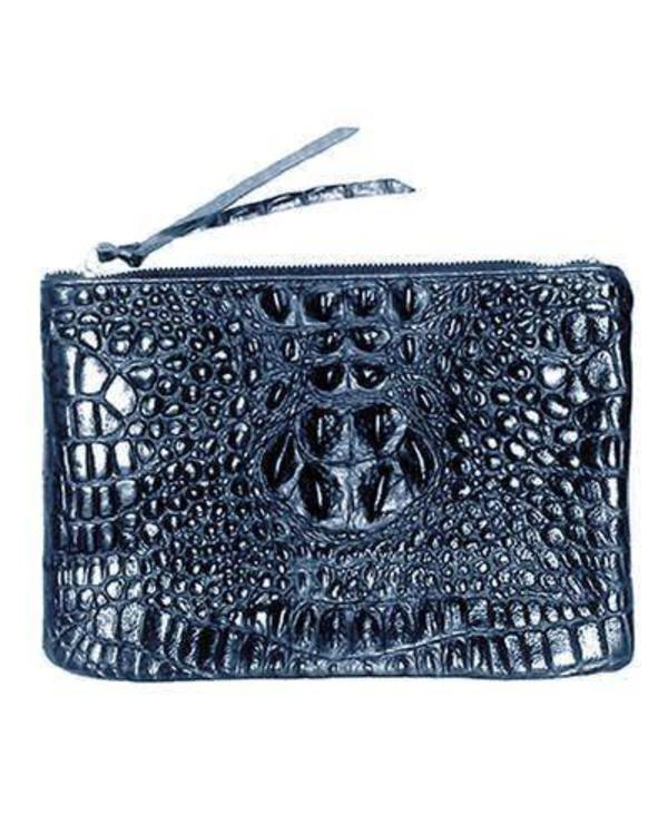 Oliveve Queenie In Midnight Hornback Embossed Cow Leather