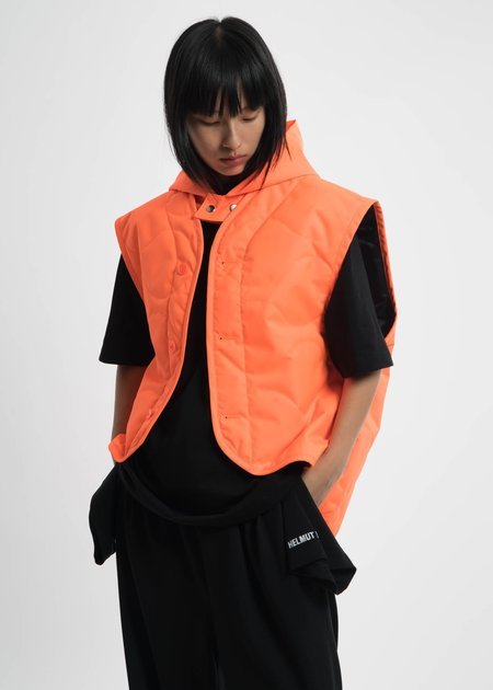 Helmut Lang Safety Orange Quilted Vest