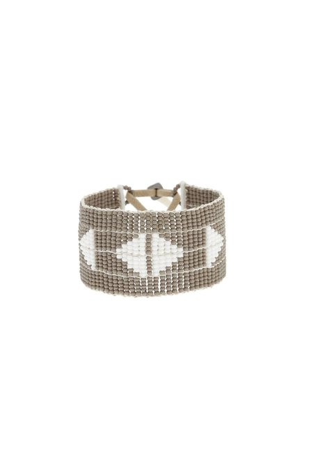 Sidai Designs Mayan Warrior Bracelet - Grey/White