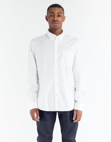 No Nationality NN07 New Derek Poplin Shirt - White