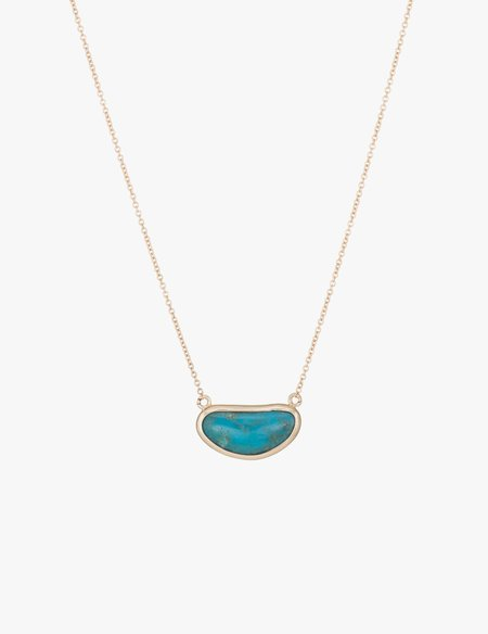 Kathryn Bentley Turquoise Slice Necklace