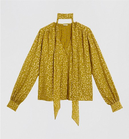 St. Roche Autumn Blouse - Olive/Antique Gold