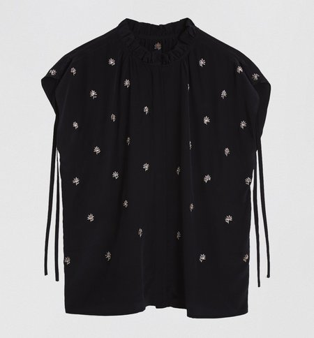 St. Roche Iris Top - Black/Silver