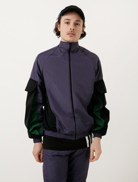 Cottweiler Mens Utility Tracktop - Purple/Black/Forest