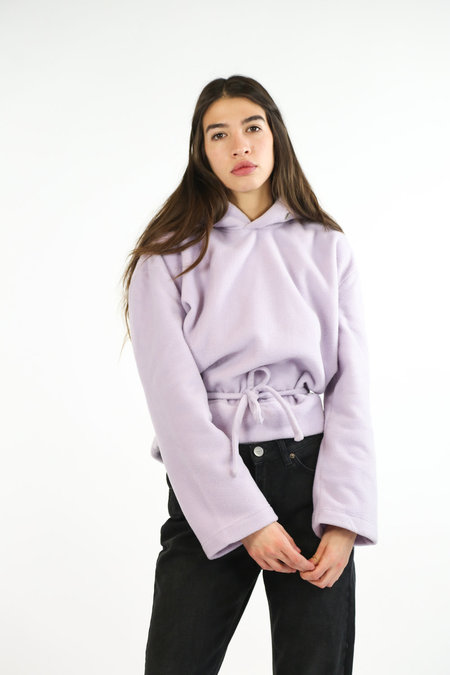 House of Sunny Eyelet Soul Hoodie - Sweet Lilac