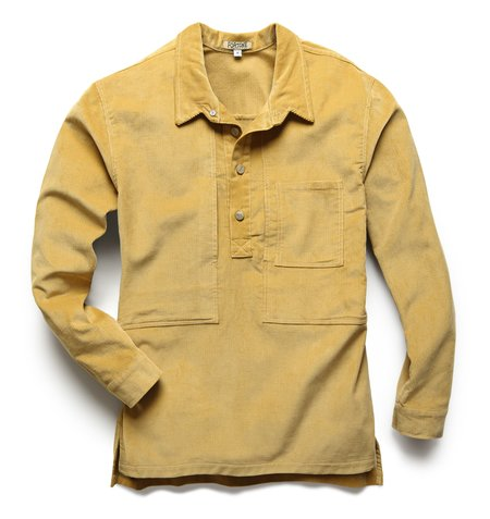 Fortune Goods Corduroy Utility Pullover Shirt - Maize