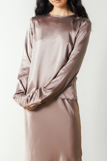 Baserange Domond Long Sleeve Top in Mountain Brown