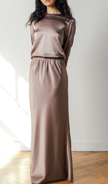Baserange Domond Skirt in Mountain Brown