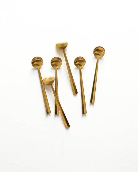 Herdmar Set of 6 Gold Mini Spoons