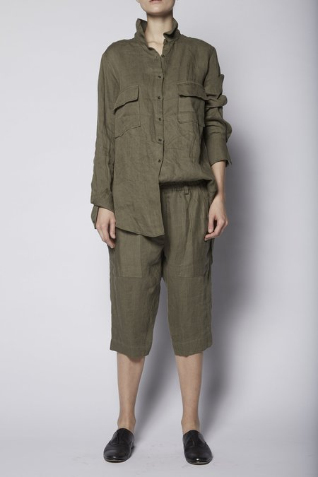 KES Cropped Patched Cotton Pant