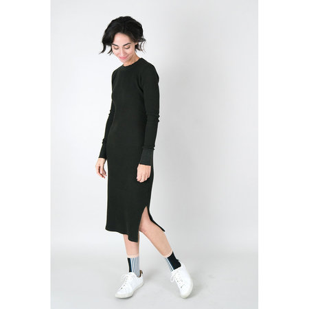 Cotton Citizen Monaco Thermal Midi Dress - Army