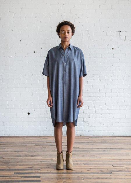 6397 Long Mens Shirt Dark Indigo