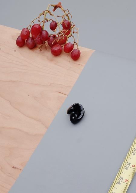 Unisex Ribeyron Organic Lacquered Ring - Black