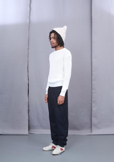Unisex Crista Seya Paper Sweater 2 yarns - White