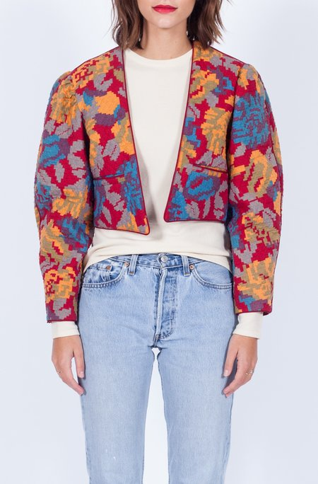 Yo Vintage! Quilted Crop Floral Jacket (Small-Med)