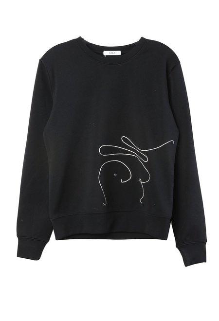 Area Bellrose Embellished Sweatshirt - black