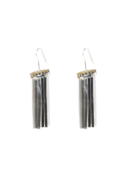 Trademark Short Fringe Earrings - Silver