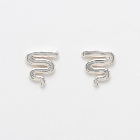 Leigh Miller Sterling Silver Squiggle Studs