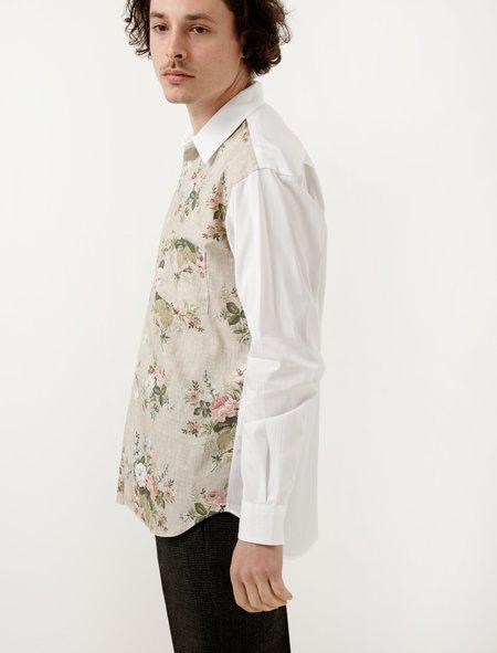 Comme Des Garçons Shirt Floral Body Shirt