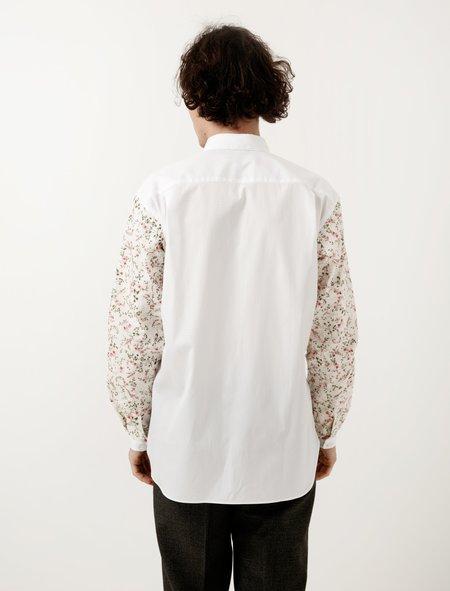 Comme Des Garçons Shirt White Floral Sleeve