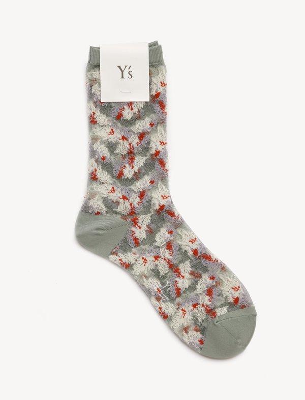 Ys by Yohji Yamamoto See-Through Feather Socks