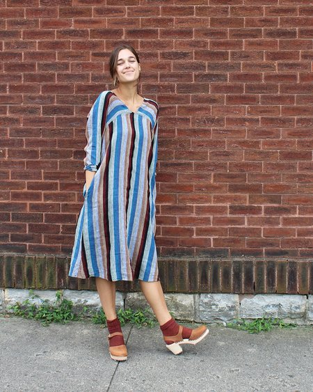 Sugar Candy Mountain The Astrid Dress in Stripe Linen