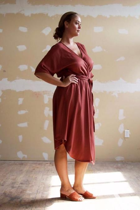 Hackwith Design House Reversible Wrap Dress - Auburn