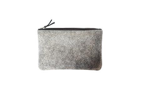 Primecut Grey Cowhide Clutch