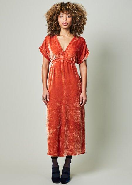 Laura Urbinati Velvet Tie Dress