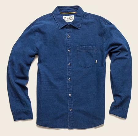 Howler Brothers Colima Longsleeve Shirt - Deep Blue Pinpoint