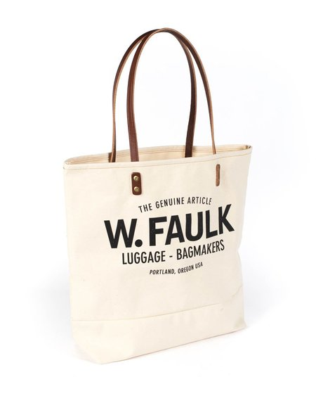 Wood&Faulk Grocery Getter Tote - Natural