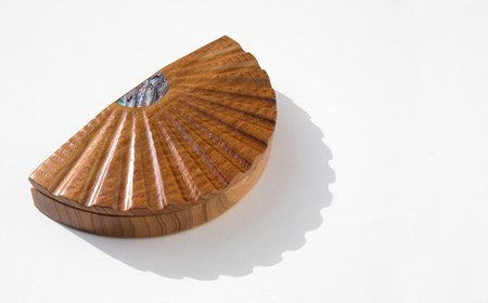 Found By Kindred Black Australian Blackwood and Abalone Scallop Box
