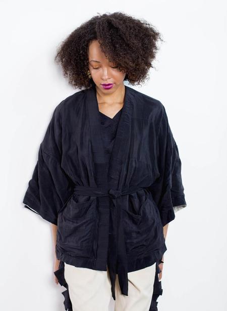 Seek Collective Rheyes Kimono Jacket - coal black
