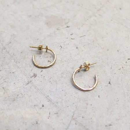 Another Feather 14k Gold Crest Hoops