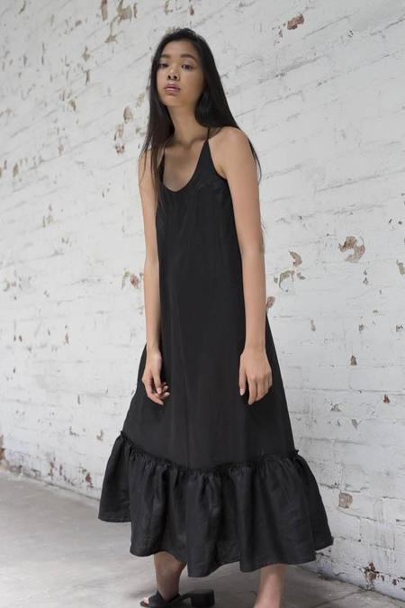 Lois Hazel Black Gather Dress