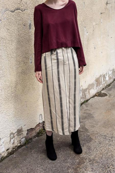Lois Hazel Pinstripe Drift Skirt
