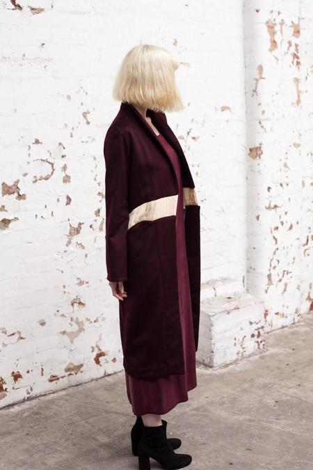 Lois Hazel Wine McFox Coat