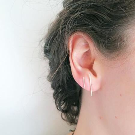 Kathleen Whitaker Stick Stud Earring - 14k Gold