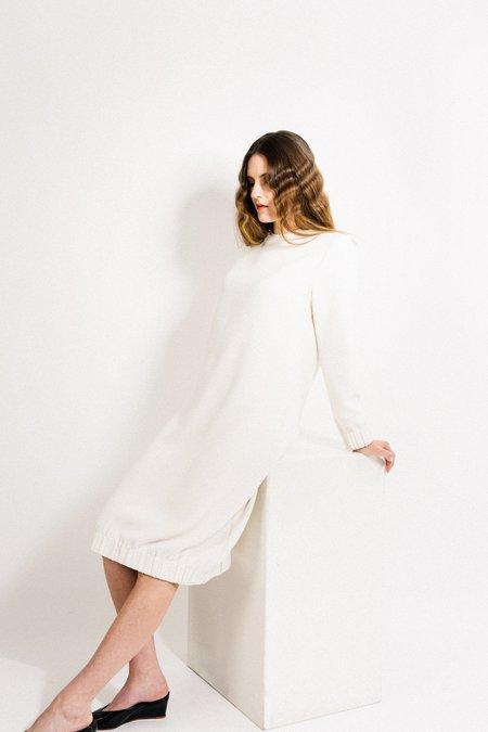 Beth Bridge Dress - White Crepe