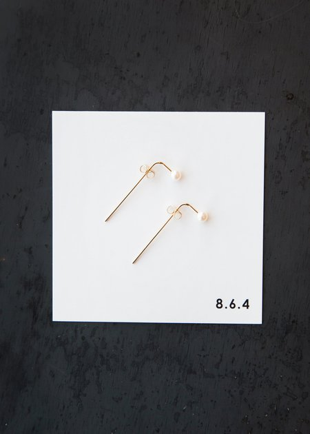8.6.4 EA-P-01 Pearl Earrings - Gold