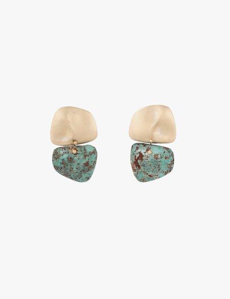 Kathryn Bentley Amorphous Turquoise Earrings
