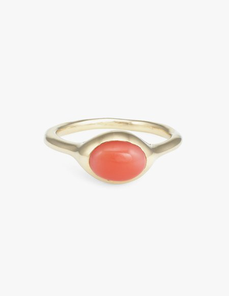 Kathryn Bentley Coral Oval Ring