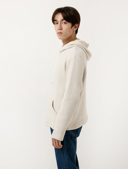 Our Legacy Flat Hoodie - White Chunky Waffle