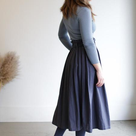 wrk-shp Long Draft Skirt - Storm Blue