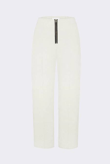 Her Line Exposed Cropped Leg Trousers - Heavy Linen - Natural