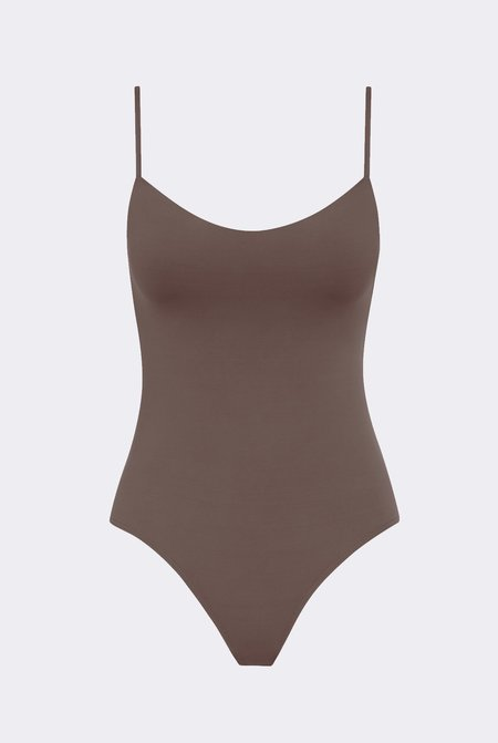 Her Line Romy one-piece - Terra brown